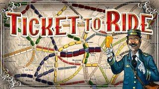 Ticket To Ride - #1 - The Train Board Game! (4 Player Gameplay)