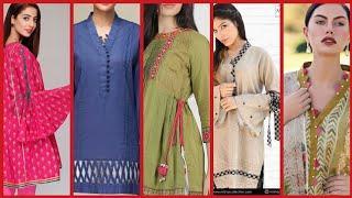 Stylish and trendy sleeves design, neckline designs, borderline design ideas for Kurtis