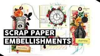 Scrap Paper Embellishments - Come Craft With Me LIVE