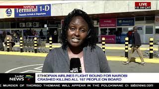 157 dead in Ethiopian airline crash