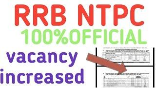 RRB NTPC VACANCY INCREASED 100% OFFICIAL NEWS RRB PATNA AND ALL RRB RAILWAY 12TH AND GRADUATE LEVEL