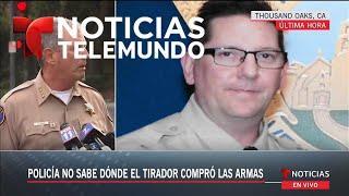 Rueda de prensa sobre el tiroteo ocurrido en el Bar Borderline en California | Noticias | Telemundo