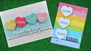 Intro to Candy Hearts, Sending Hugs and XOXOXO Line Borders