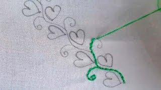 hand embroidery beautiful border design | easy border line embroidery