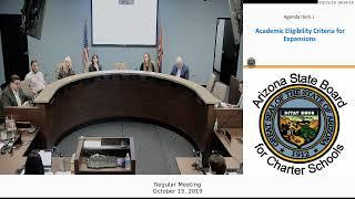 Arizona State Board for Charter Schools October 15, 2019 Board Meeting Live Stream