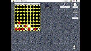 Apple Macintosh Longplay - Board Games - Connect Four (1993) Daniel E. Gisselquist