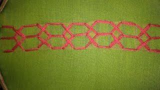 Simple Border Line design #2. Hand embroidery design