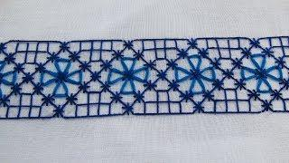 Hand Embroidery Beautiful Border Line Design by Nakshi Kantha World