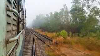 Crossing The Goa-Maharashtra Border On A Foggy Morning By Rail!