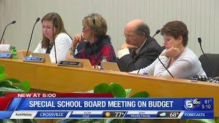 Special school board meeting - Live coverage