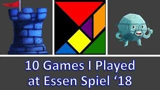 10 Games I Played at Essen Spiel 2018