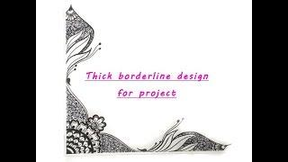 How to make thick Border line design for project }{ Two sided beautiful Alpana design