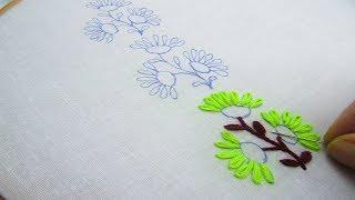 Hand Embroidery; New Border Line Design; Lazy Daisy Stitch