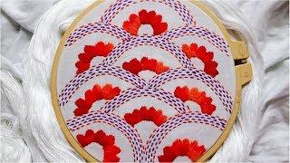 Nokshi Katha/Nakshi kantha/নকশী কাঁথা/नक्षी कंध सिलाई /How to stitch Nokshi  Katha handembroidery#46