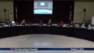 Board Meeting --- October 1, 2019 - LIVE