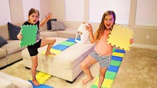 GIANT BOARD GAME PICKS OUR SLIME INGREDIENTS CHALLENGE!! | JKrew