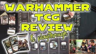 Warhammer TCG Game Review & Playthrough | Good Luck High Five Board Games