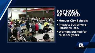 Hoover school board approves pay raise for hourly employees