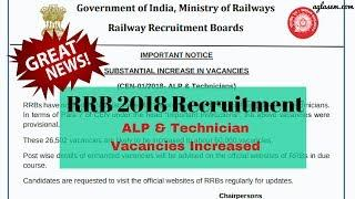 Good News: RRB 2018 ALP Vacancies Increased | Check complete Story Here | Aglasem News