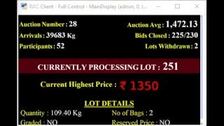 SPICES BOARD PUTTADY - E-AUCTION IDTCPC 18.03.2019 LIVE
