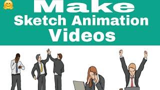 How to make sketch animation or white board animation video||Hindi||