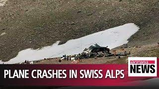 Vintage plane crashes in Swiss Alps, killing all 20 people on board