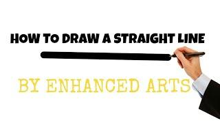 HOW TO MAKE A BORDER OR STRAIGHT LINE ENHANCED ARTS