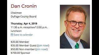 Dan Cronin, Chairman, DuPage County Board LIVE