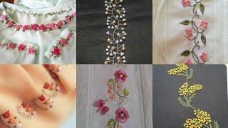 Hand embroidery : border embroidery /handmade work border line