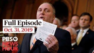 PBS NewsHour full episode October 31, 2019