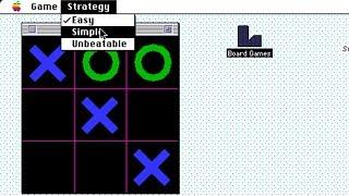 Apple Macintosh Longplay - Board Games - TicTacToe (1993) Daniel E. Gisselquist