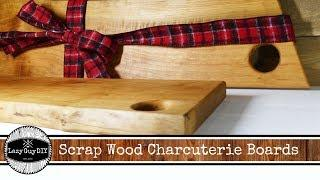Scrap Wood Live Edge Charcuterie Board