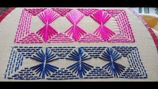 Hand Embroidery nakshi kantha border line design-5/Hand Embroidery stitch Borderline
