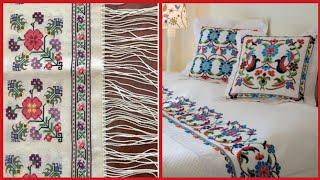 Borderline Cross Stitch New patterns for cushion,Table cover,Bedsheet
