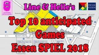 Top 10 Anticipated Games - Essen SPIEL 2018 (In English Board Games)
