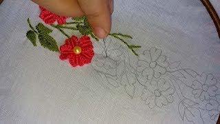 Amazing borderline design   Hand Embroidery borderline design.