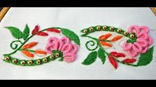 Hand Embroidery | Border Embroidery Designs | Decorative Borderline Embroidery Tutorial