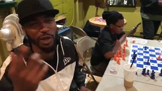 Serius Jones Vs Chyna Black In A Battle On The Chess Board |M.Reck Live |Hip Hop Chess Club