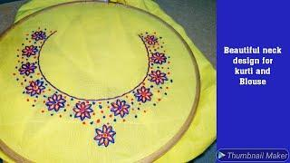 #Neckdesign#Handembroidery Beautiful Dress and Blouse neck design | kurti neck line