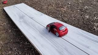 Cars are riding on the board Video for kids
