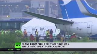 Chinese Boeing 737 with 165 people on board crash-lands at Manila airport