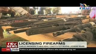 Charles Mwongera to head newly constituted firearms licensing board