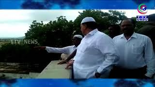 WAQF BOARD CHAIRMAN VISIT PAHADI SHAREEF TO INSPECT WAQF LAND | URDU NEWS | 17-07-2018