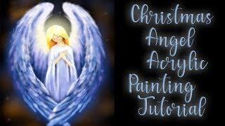 Christmas Angel Acrylic Painting LIVE Tutorial