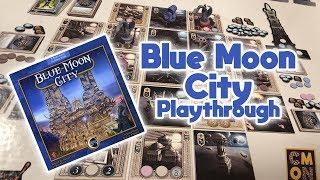 Blue Moon City Board Game Playthrough & How To Play | GLH5 Games