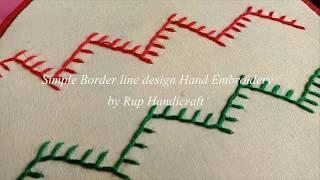 Beautiful Border line design for kameez #5, Hand Embroidery Border line design by Rup Handicraft