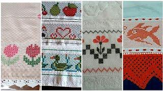 latest and Stylish cross   Stitches border line idea