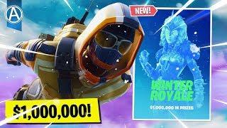 "Pro Console Player // NEW ""WINTER ROYALE"" EVENT // 1400+ Wins (Fortnite Battle Royale LIVE PS4)"