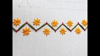 Hand Embroidery  Border Line | Border line design