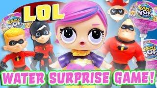 The Incredibles 2 Play the LOL Surprise Dolls Water Surprise Game! Featuring Super BB & Elastigirl!